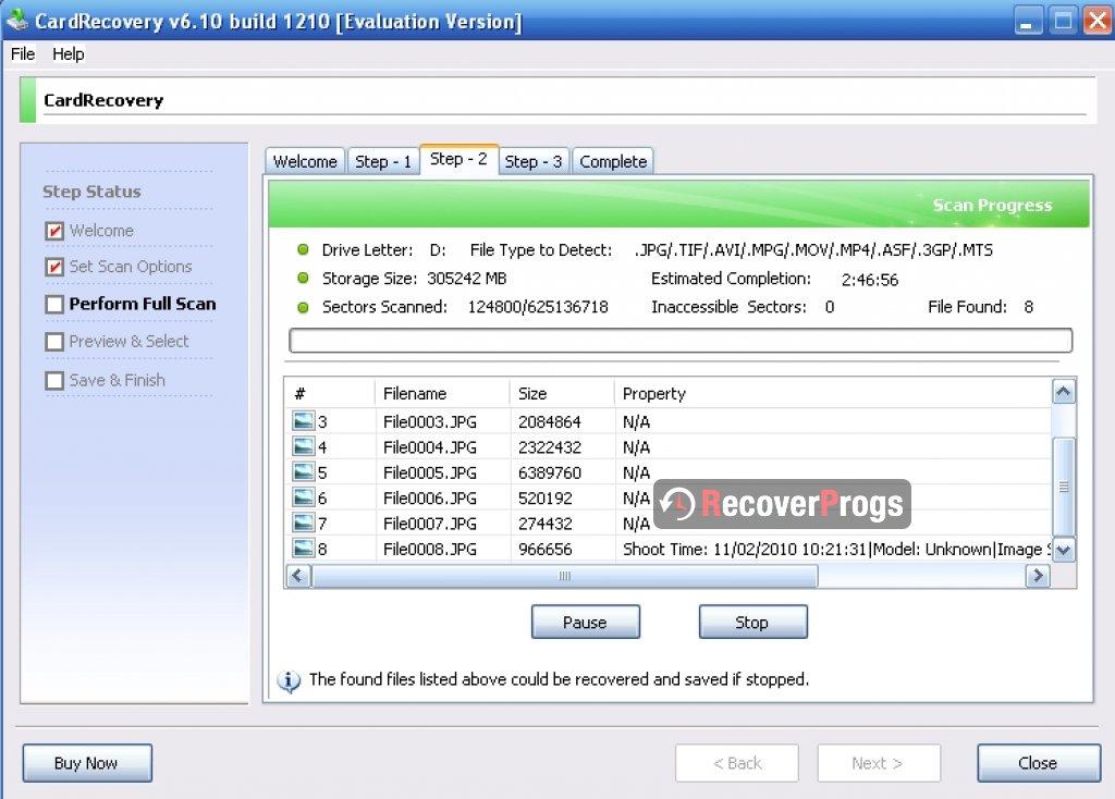 card recovery registration key v6 00 build 1012 evaluation version